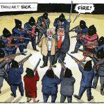 Steve Bell on Corbyn rebellion