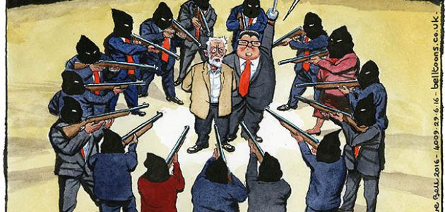 Steve Bell on Corbyn rebellion